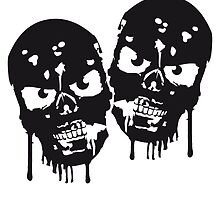 Party team friends crew blood skull by Style-O-Mat