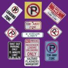 Parking Sign Jewels by DAdeSimone
