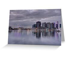 Docklands, Melbourne, Victoria Australia. Greeting Card