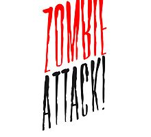 Zombie Horde attack danger logo by Style-O-Mat