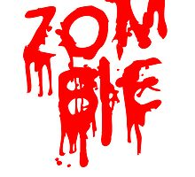 Zombie blood bloody splatter design by Style-O-Mat