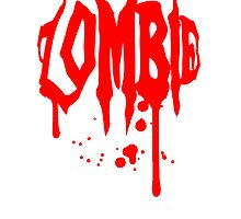 Cool zombie blood drops graffiti design by Style-O-Mat