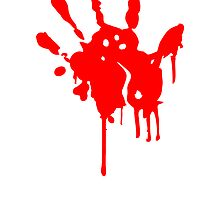 Bloody handprint blood stain by Style-O-Mat