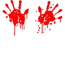 2 bloody handprints blood stain by Style-O-Mat
