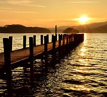 Coniston Golden Sunset by towerphotos