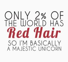 Red Hair Majestic Unicorn  by Glamfoxx