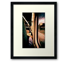 Man on train - Lomo LCA xpro lomographic analog 35mm film Framed Print