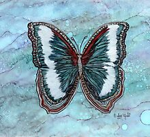 Patriotic Butterfly by Linda Ginn Art