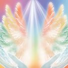Rainbow Healing with Angels by saleire
