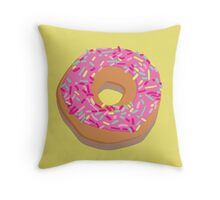 Pink delicious donut Throw Pillow