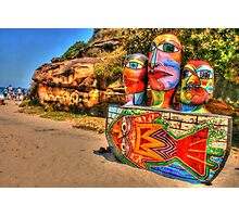 Colourful Sculpture by the Sea Photographic Print