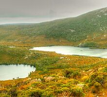 Cradle Mountain Lakes panorama by Michael Matthews