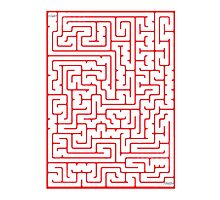 Maze in Red by jumble