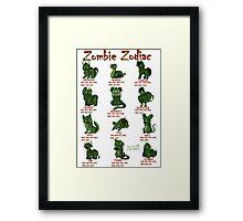 Zombie Zodiac Framed Print