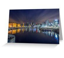 Salthouse Dock - Liverpool Greeting Card