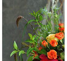 The bridal  floral arrangements on canvas bg2 Photographic Print