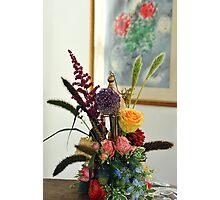 The bridal  floral arrangements on canvas bg4 Photographic Print