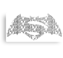 Bats v Supes Metal Print