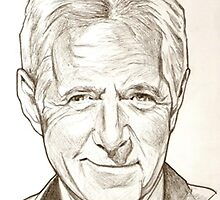 Alex Trebek drawing by RobCrandall