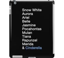 Princess Names (white text) iPad Case/Skin