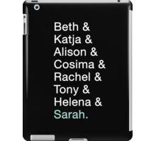Orphan Black - Clone Names iPad Case/Skin