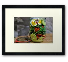 Layers of Love Salad Framed Print