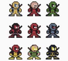 8-bit Deadpool Through the Ages by groundhog7s