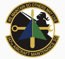 347th Aircraft Maintenance Squadron - We Maintain So Others May Live by VeteranGraphics