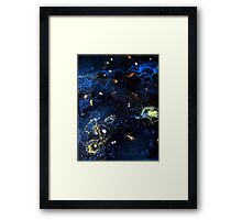 Abstract Fluid Acrylic Universe Painting HELIX Holly Anderson Contemporary Art Collective Framed Print