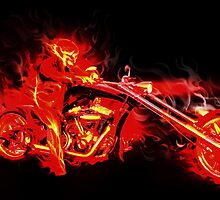 """ Flame Rider "" Vector Artwork by CDoJOe Design @ cdocitylife.com"