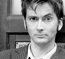 Tenth Doctor's Tie Black and White by Themaninthefez