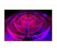 Wheel of Light - Dark Mofo 2014 Art Print