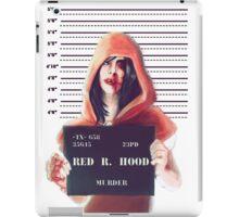 Red ridding hood mugshot iPad Case/Skin