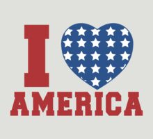 I Heart America Flag by CarbonClothing