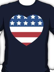 USA Heart Flag T-Shirt