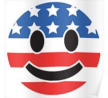 USA Smiley Face Poster
