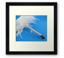 Ostrich quill pen Framed Print
