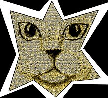 Pixel Cat Gold by amanda metalcat