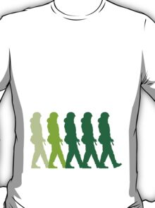5 marching patrol soldiers T-Shirt