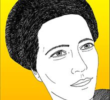 Simone de Beauvoir by mindprintz