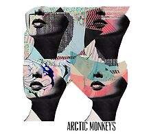 Arctic Monekys Artwork T-Shirt by Olga Woronowicz