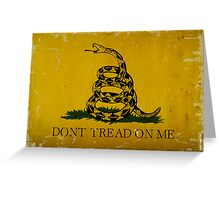Gadsden Flag, Don't Tread On Me Greeting Card