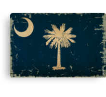 South Carolina State Flag VINTAGE Canvas Print