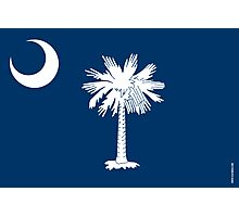 South Carolina State Flag Photographic Print