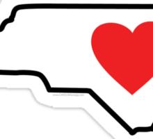 I Love North Carolina Sticker