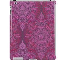 Magenta, Pink & Coral Protea Doodle Pattern iPad Case/Skin