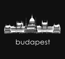 Budapest - Minimalist T-Shirt (dark colors only) by CaffeineSpark