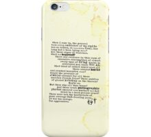Thompsons Typewriter iPhone Case/Skin