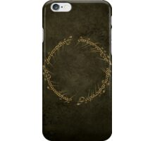 The One Ring Inscription iPhone Case/Skin