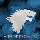 """""""Winter Is Coming"""" - House Stark Game of Thrones Tote/Pillow by Diana G"""